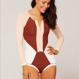 L*space Mod One Piece Long Sleeve Swimsuit